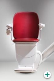 Foto des Sitzlift Modell 200 für gerade Treppen mit rotem Polster