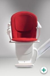 Foto des Sitzlifte Modell 3300 für gerade Treppen mit rotem Polster