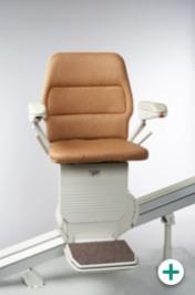 Foto des Sitzlift Modell 400 für gerade Treppen mit braunem Polster