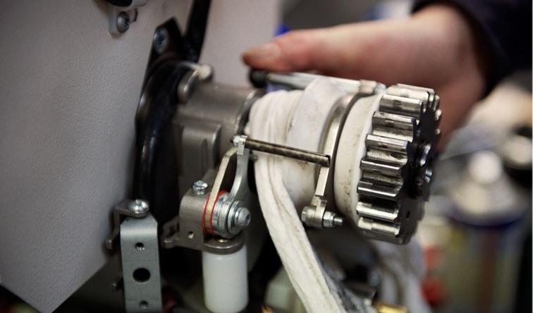 Reinigung und Aufpolierung eines Treppenlift-Motors